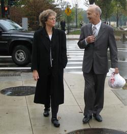 Leslie Kean and Iranian General Parviz Jafari in Washington, DC